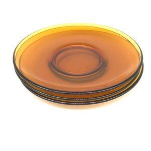 Other - Vintage amber glass dessert plates
